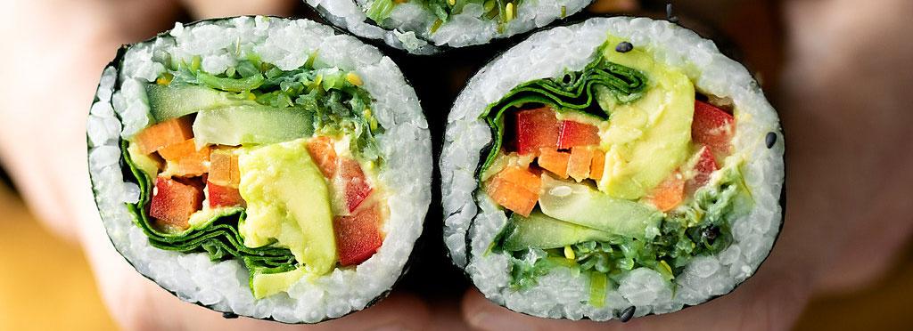 plant based sushi rolls